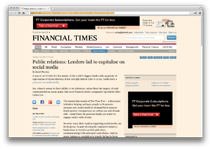 Public relations: Lenders fail to capitalise on social media