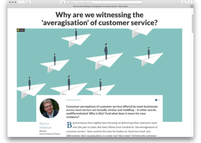 Why are we witnessing the 'averagisation' of customer service?