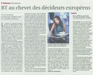 BT au chevet des décideurs européens