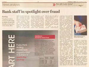 Bank Staff in Spotlight over Fraud