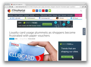 Loyalty card usage plummets as shoppers become frustrated with paper vouchers
