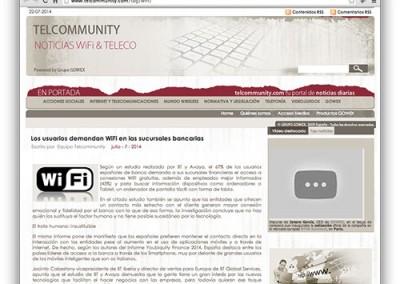 Los usuarios demandan WiFi en las sucursales bancarias