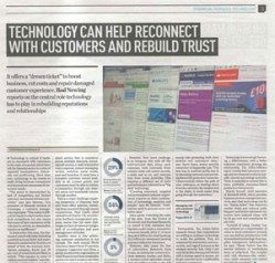 Technology can help reconnect with customers and rebuild trust