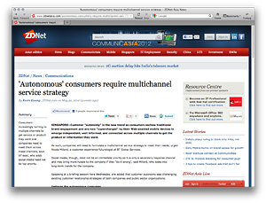 'Autonomous' consumers require multichannel service strategy