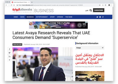 Latest Avaya Research Reveals That UAE Consumers Demand 'Superservice'