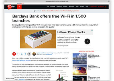 Barclays Bank offers free Wi-Fi in 1,500 branches