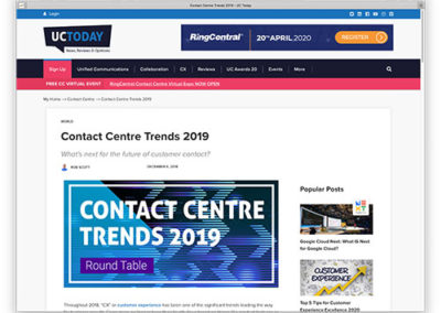 Contact Centre Trends 2019